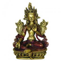 Green Tara 14 cm Gold Red