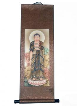 Silk Scroll: Taaching Buddha